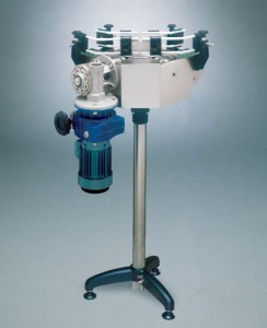 90 degrees motorized angle with rotating table diam. 250 mm